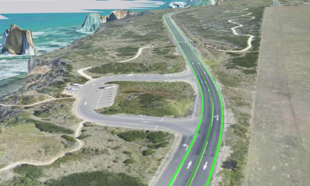 Great Ocean road Centreline - mobile laser point cloud