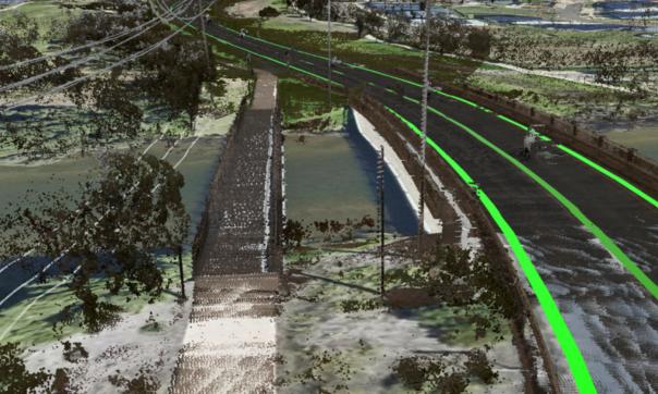 Great Ocean road Centreline - Torquay bridge mobile laser scanning survey