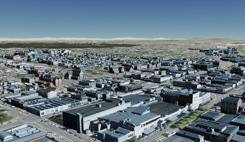Example of buildings models in the Digital Twin Victoria pilot