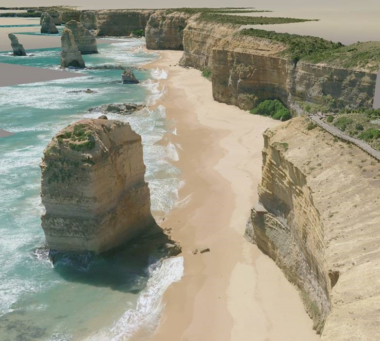3D visualisation of the Great Ocean Road