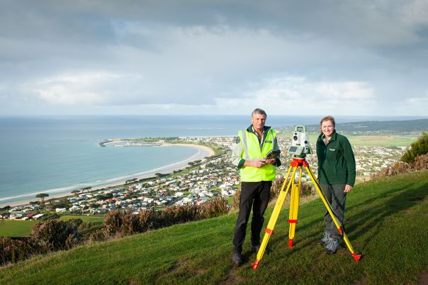 Cadastral survey of 243 km of the Great Ocean Road.